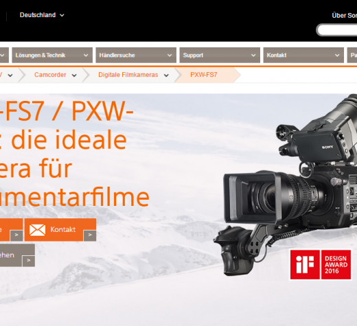 Die Sony PXW-FS7: Eine Profi-Cam speziell für Dokumentarfilmer